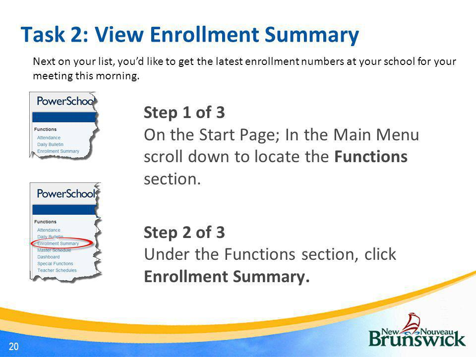 Task 2: View Enrollment Summary