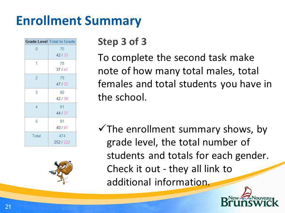 Enrollment Summary Step 3 of 3
