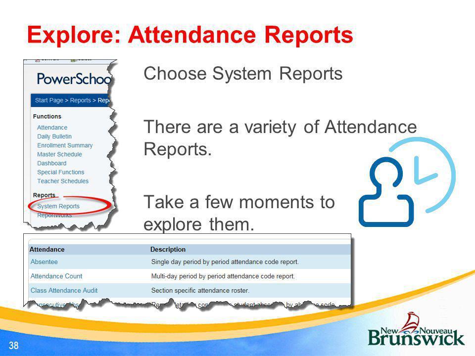 Explore: Attendance Reports