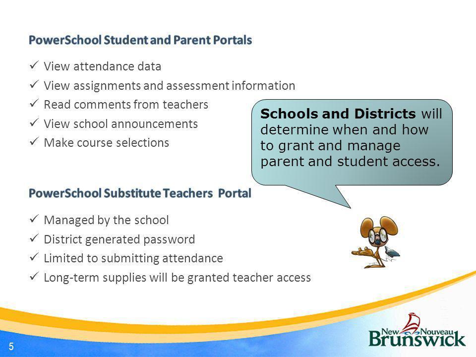 PowerSchool Student and Parent Portals View attendance data