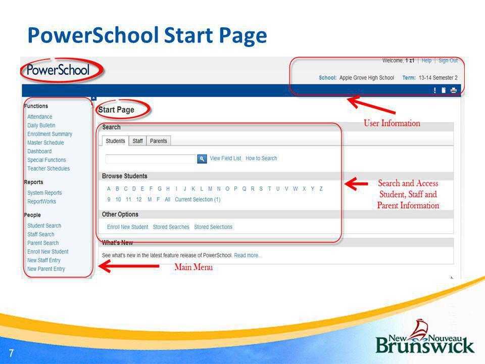 PowerSchool Start Page