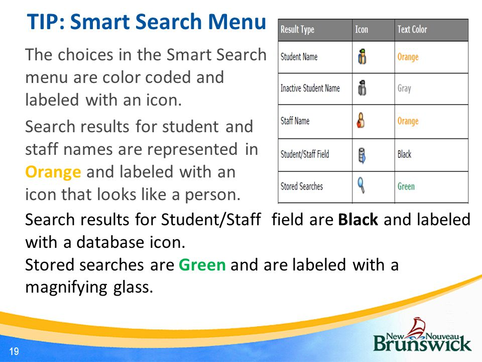 TIP: Smart Search Menu