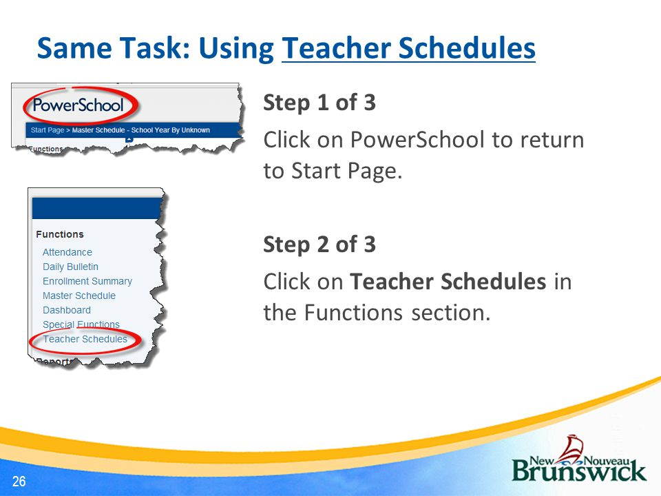 Same Task: Using Teacher Schedules