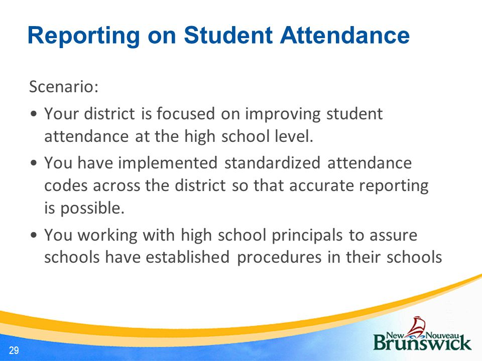 Reporting on Student Attendance