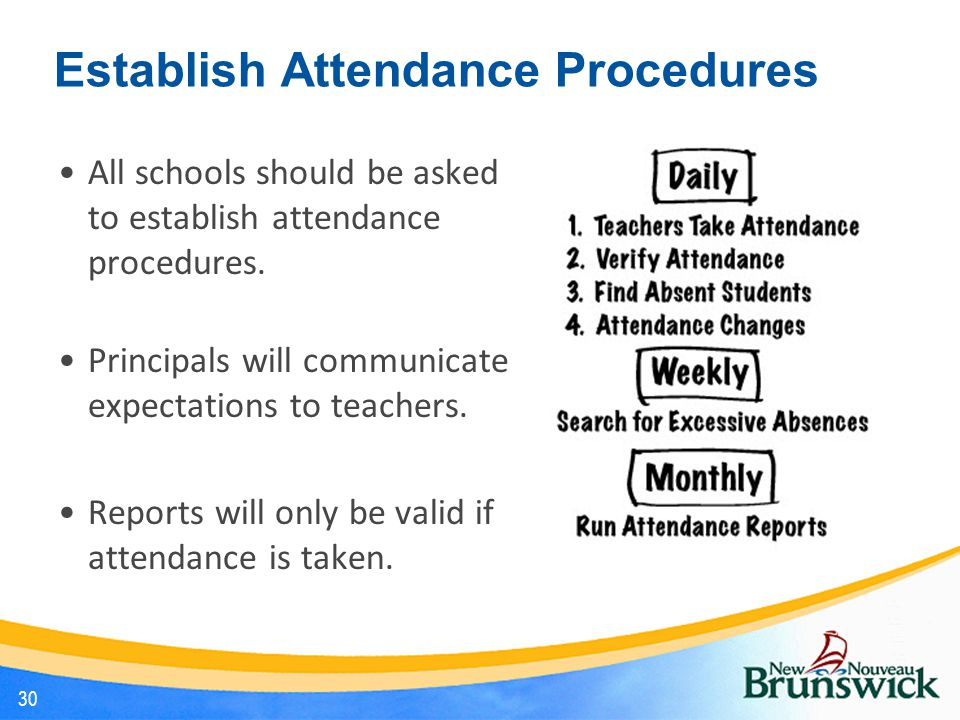 Establish Attendance Procedures