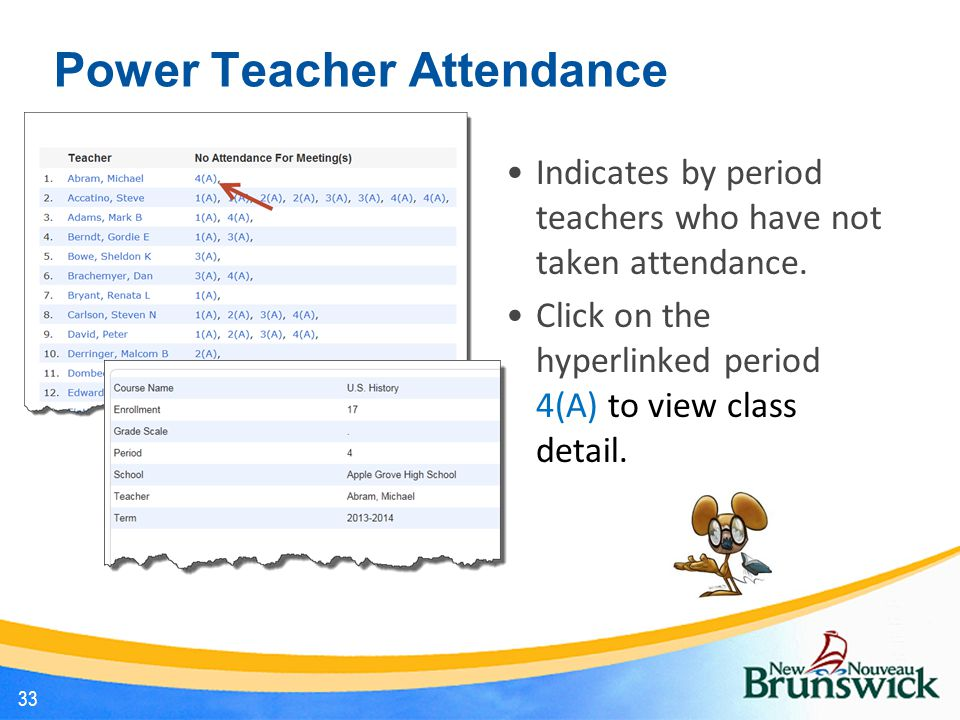 Power Teacher Attendance