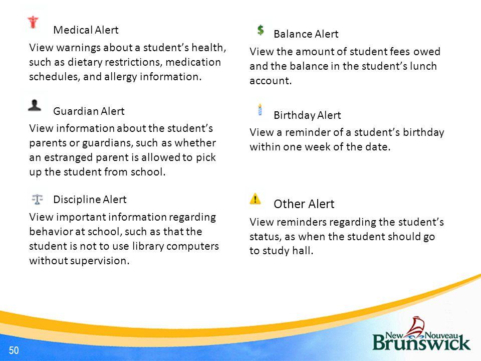 Other Alert Medical Alert Balance Alert