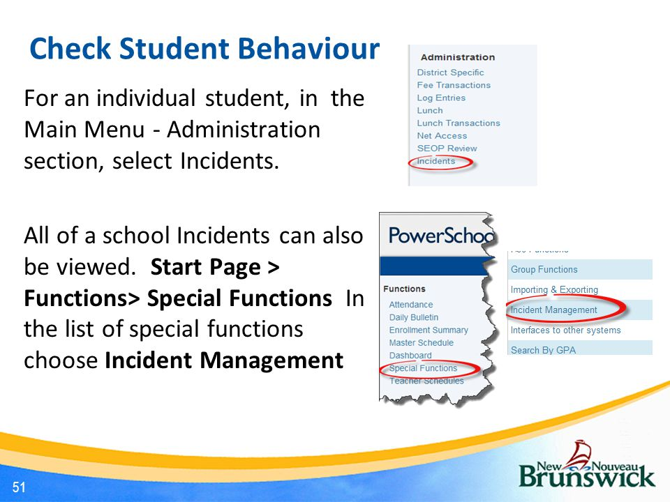 Check Student Behaviour