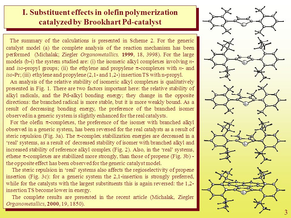 I. Substituent effects in olefin polymerization catalyzed by Brookhart Pd-catalyst