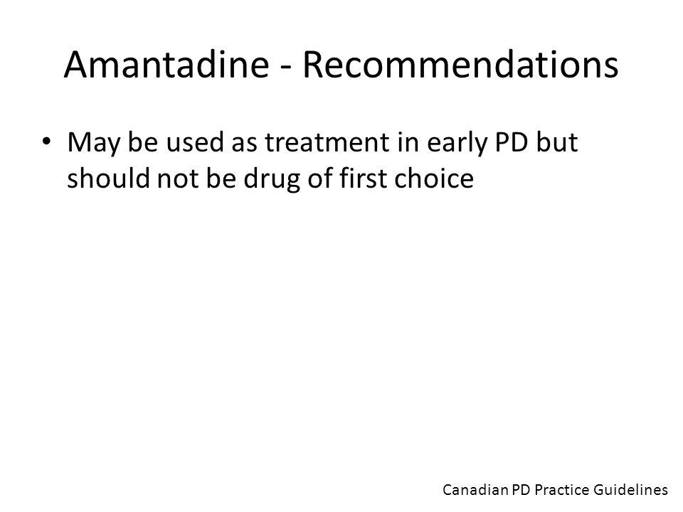 Amantadine - Recommendations
