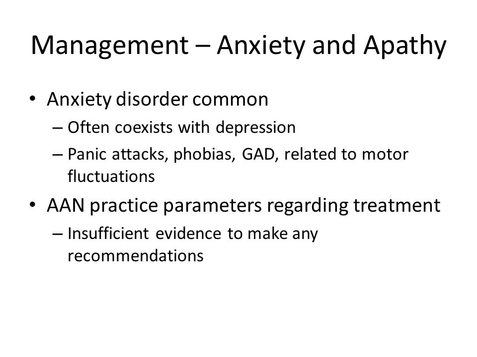 Management – Anxiety and Apathy