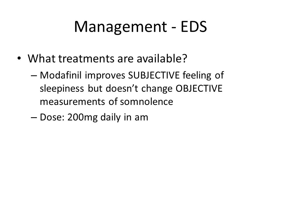 Management - EDS What treatments are available