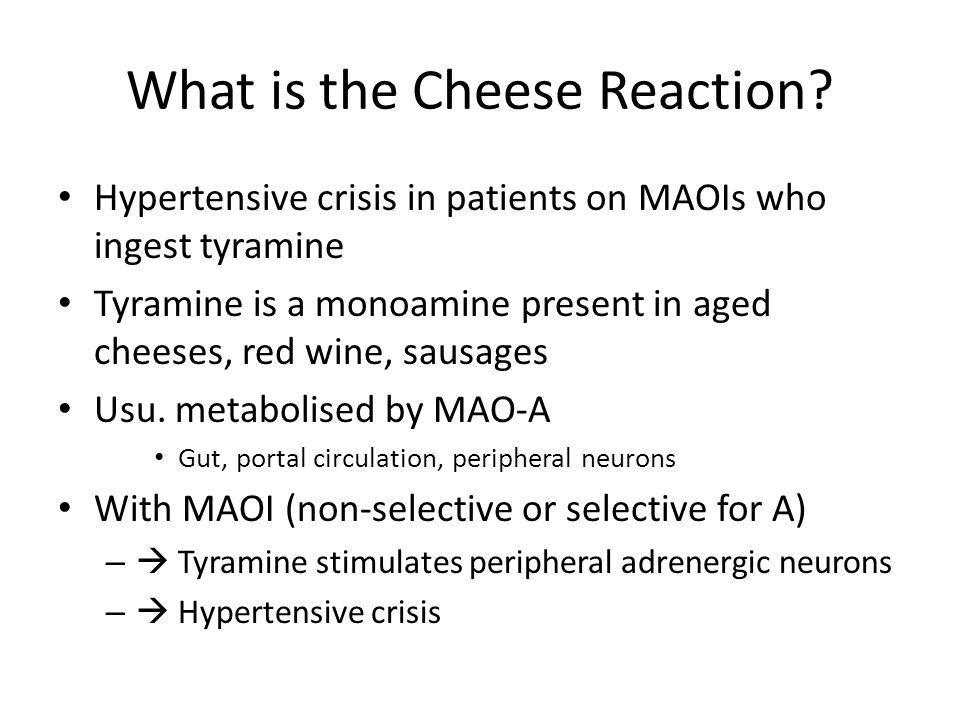 What is the Cheese Reaction