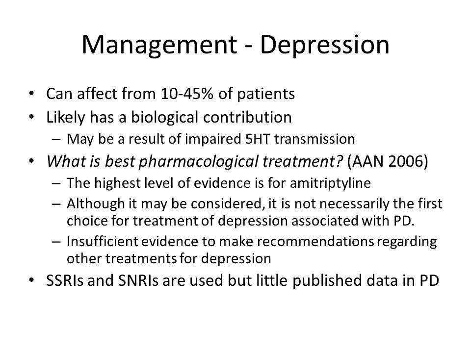 Management - Depression