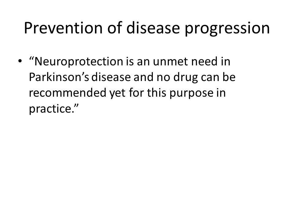 Prevention of disease progression