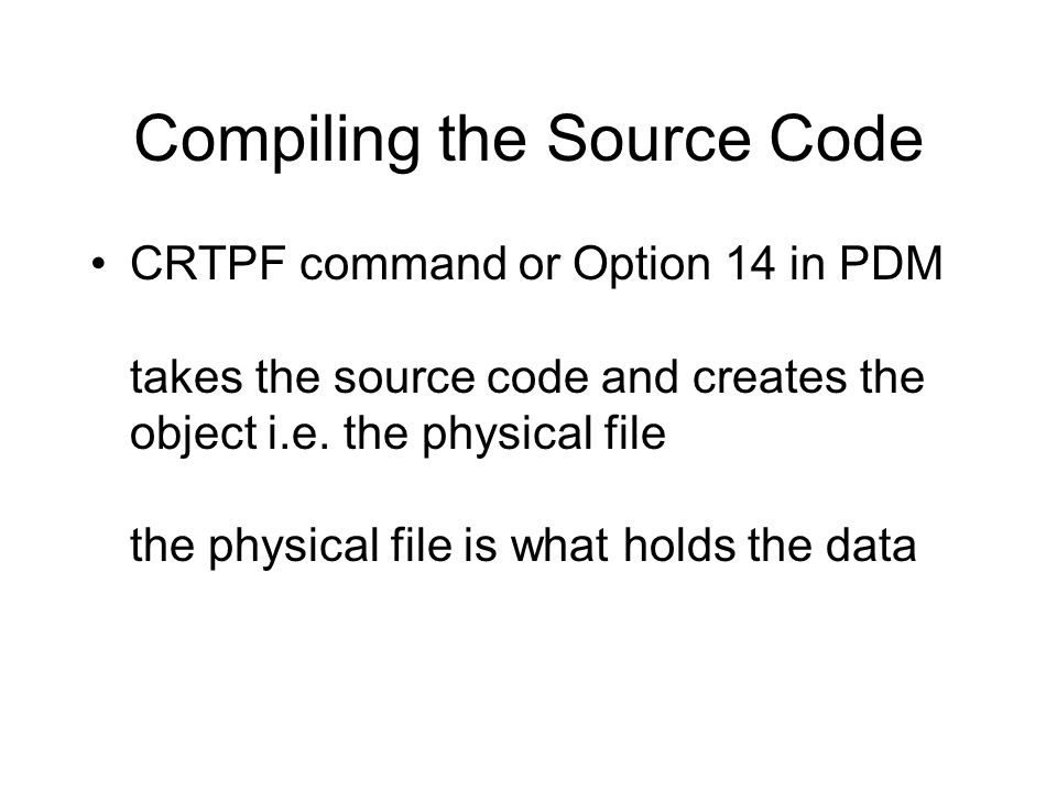 Compiling the Source Code