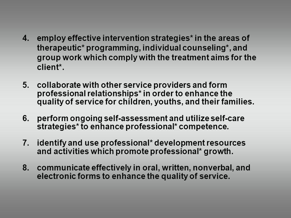 4. employ effective intervention strategies