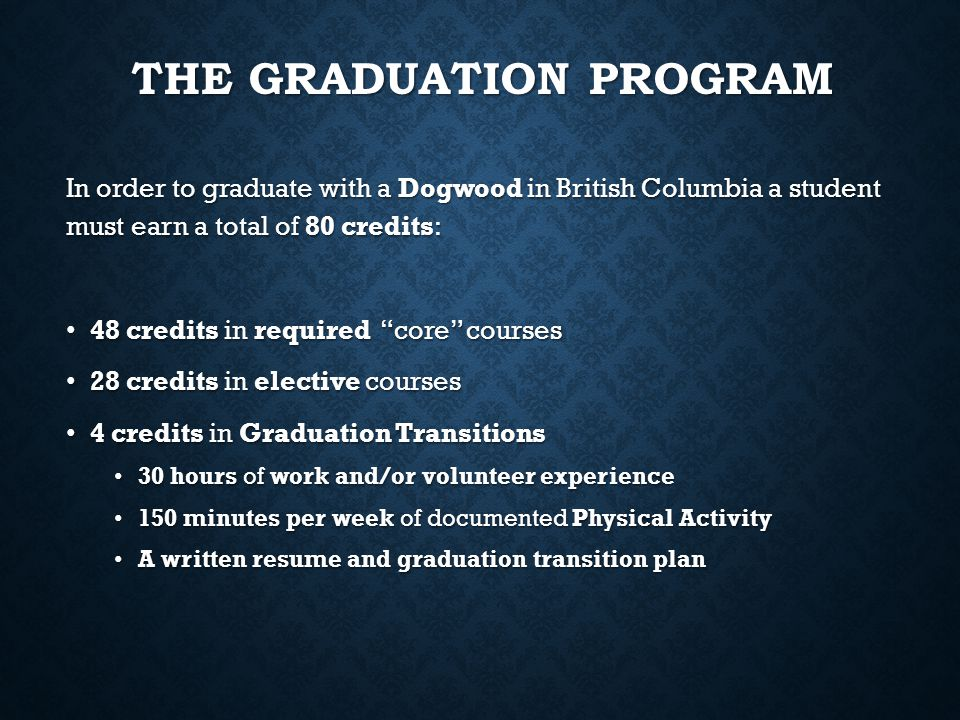 The Graduation Program
