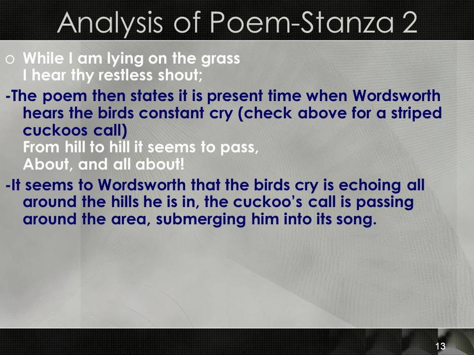 Analysis of Poem-Stanza 2