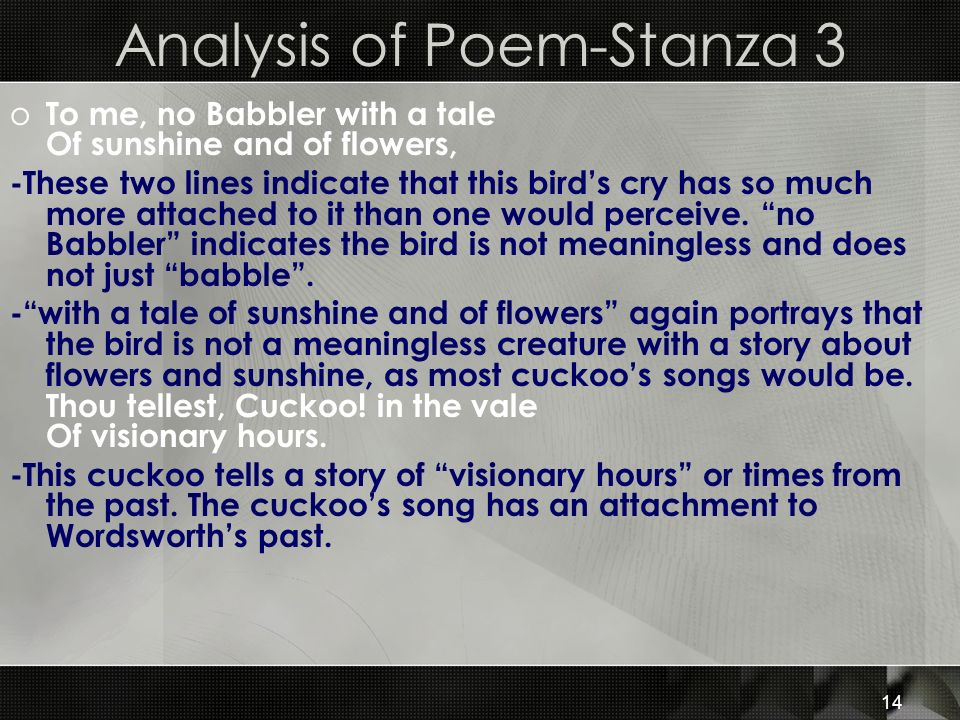 Analysis of Poem-Stanza 3