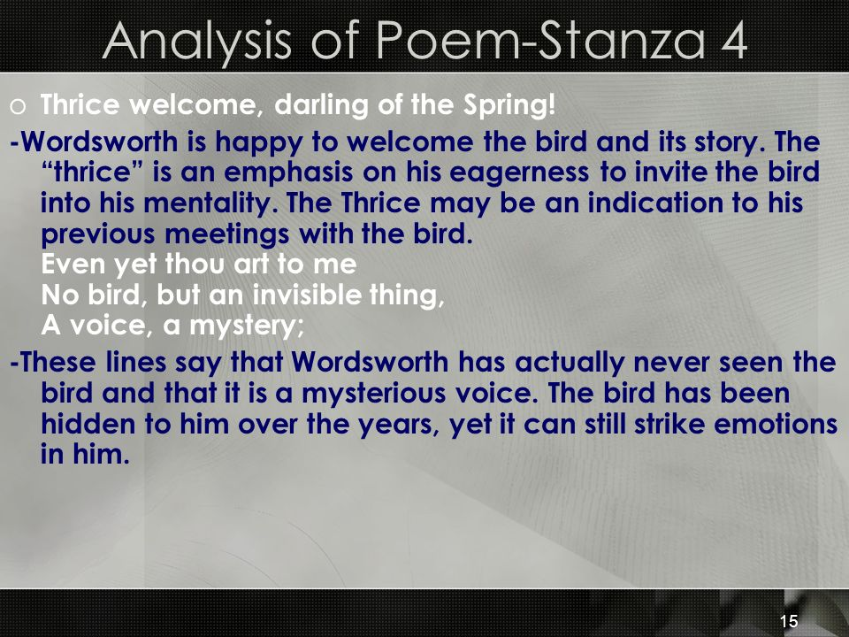 Analysis of Poem-Stanza 4