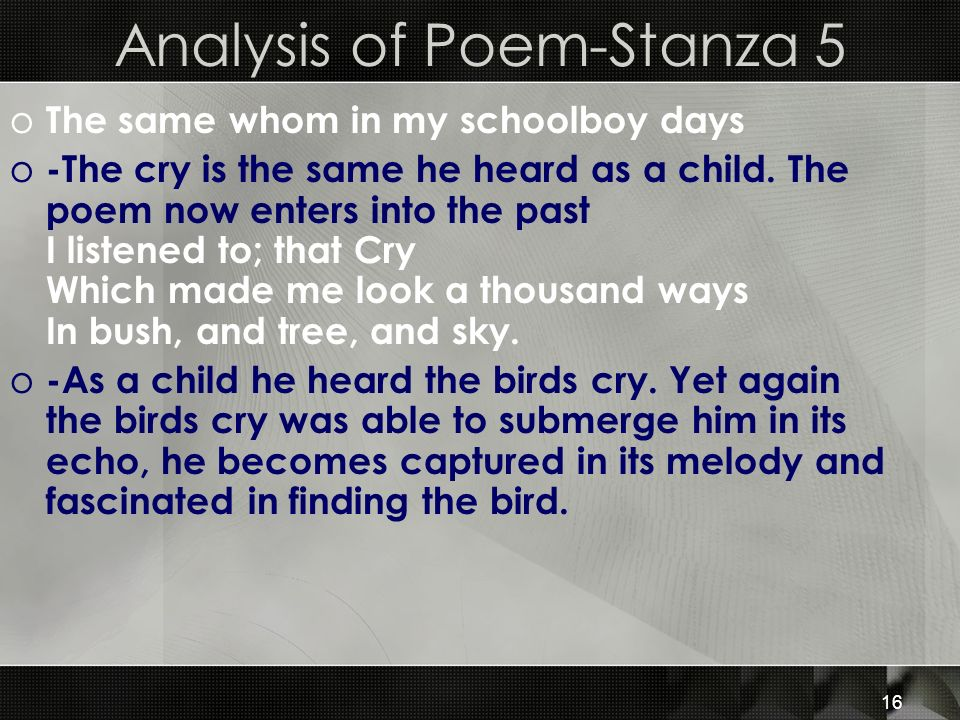 Analysis of Poem-Stanza 5