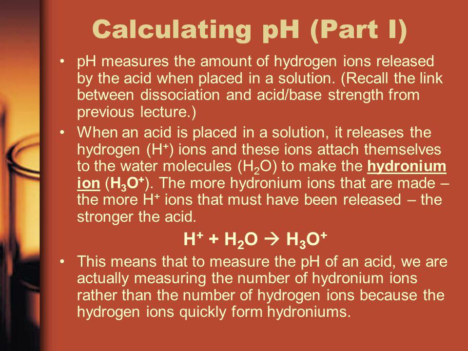 Calculating pH (Part I)