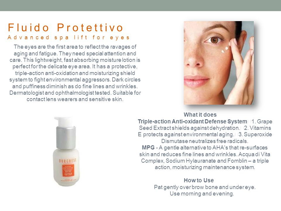 Fluido Protettivo Advanced spa lift for eyes