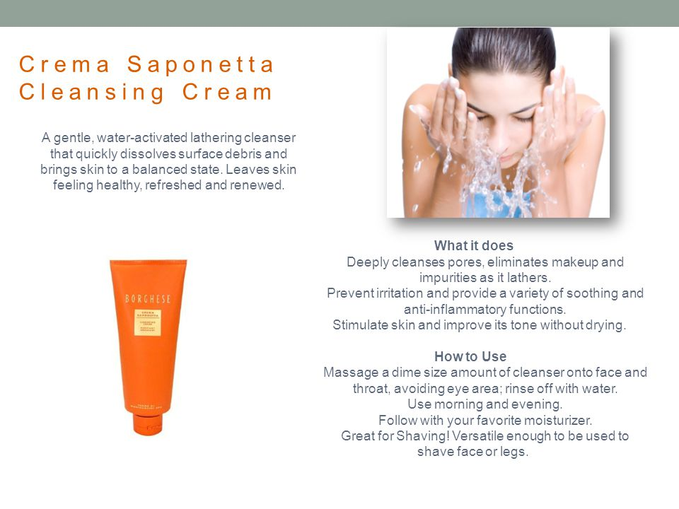 Crema Saponetta Cleansing Cream