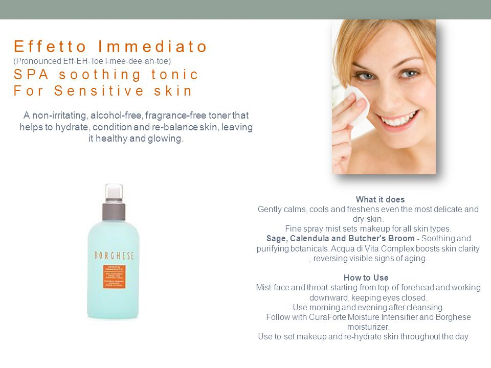 Effetto Immediato SPA soothing tonic For Sensitive skin