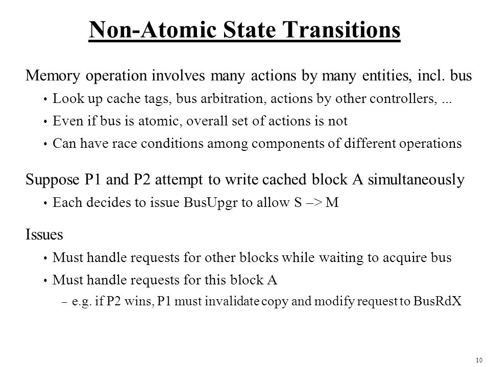 Non-Atomic State Transitions