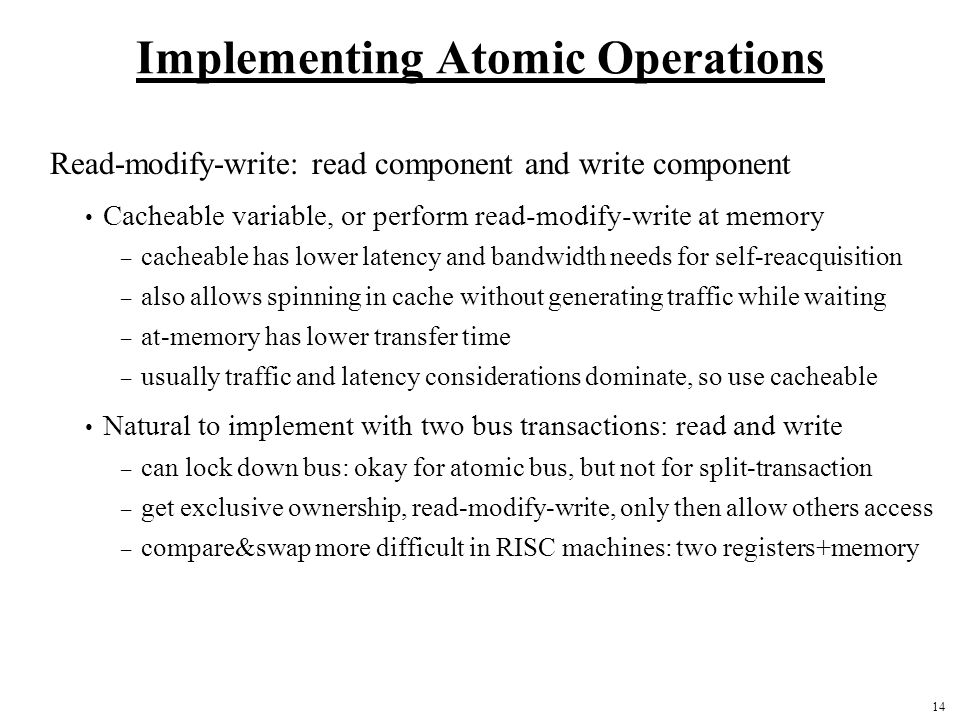 Implementing Atomic Operations