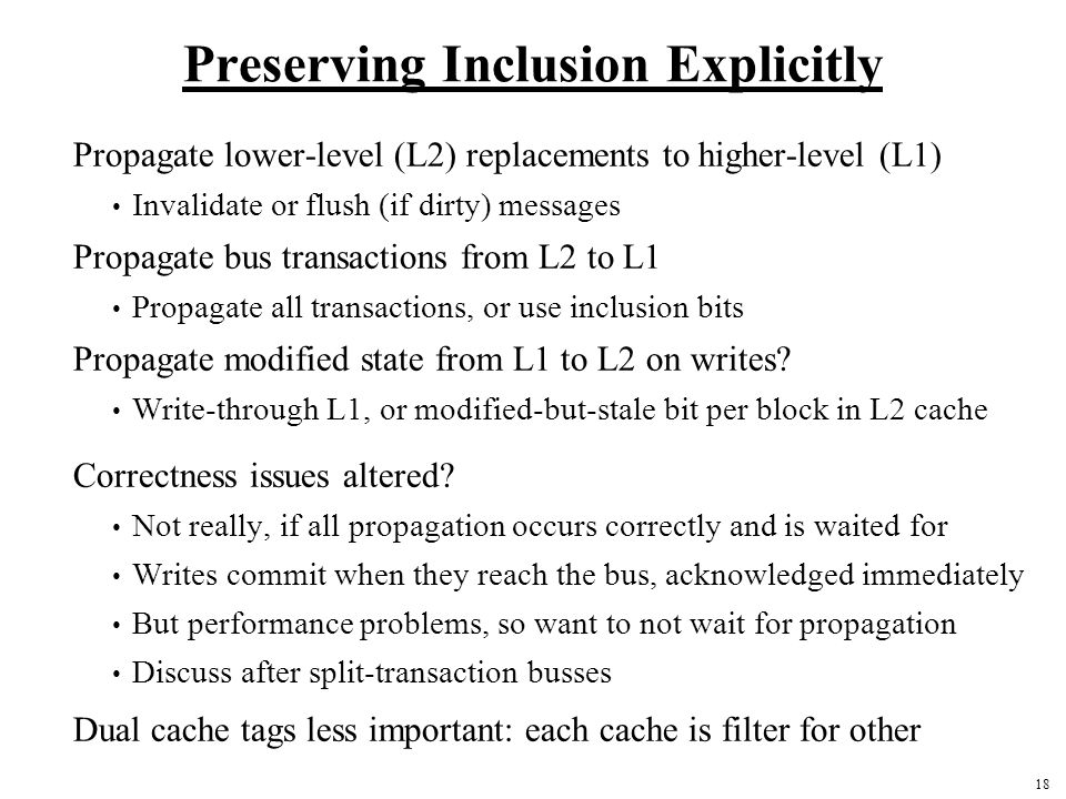 Preserving Inclusion Explicitly