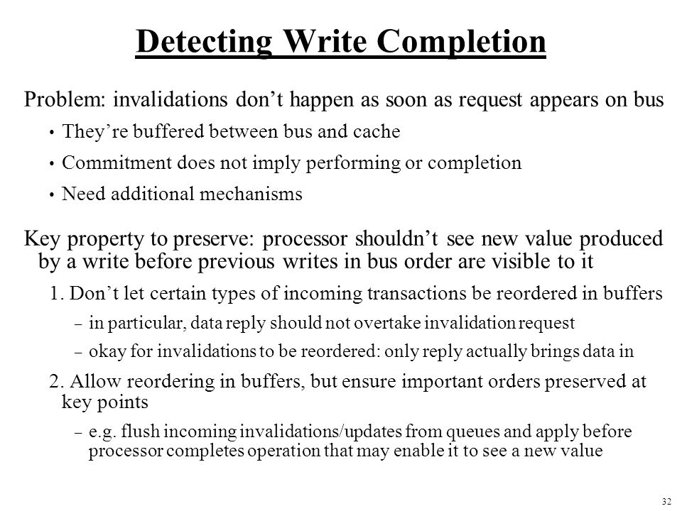 Detecting Write Completion