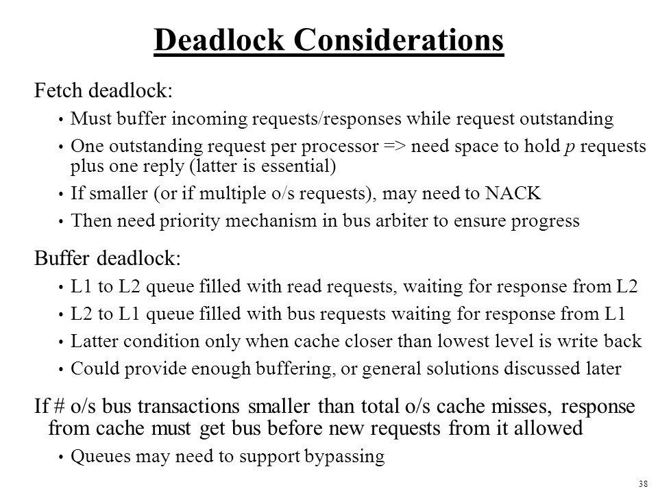 Deadlock Considerations