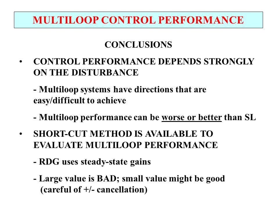 MULTILOOP CONTROL PERFORMANCE