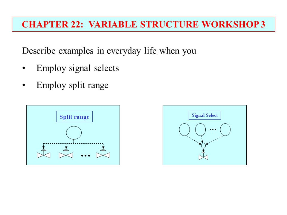 CHAPTER 22: VARIABLE STRUCTURE WORKSHOP 3