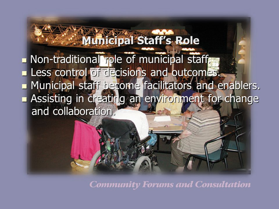 Municipal Staff's Role