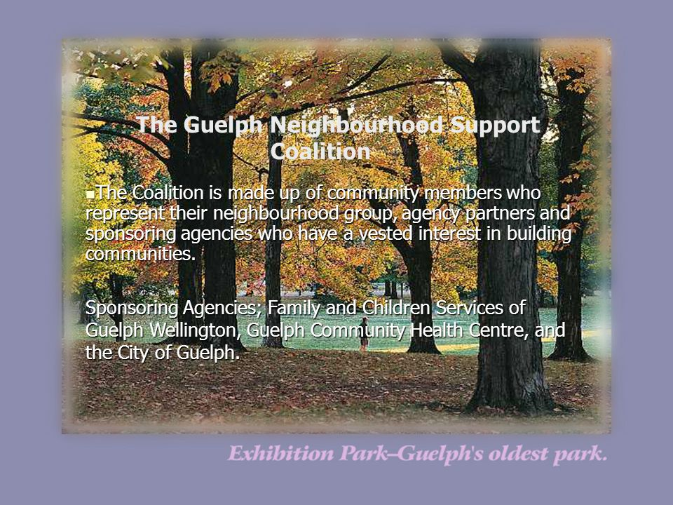 The Guelph Neighbourhood Support Coalition