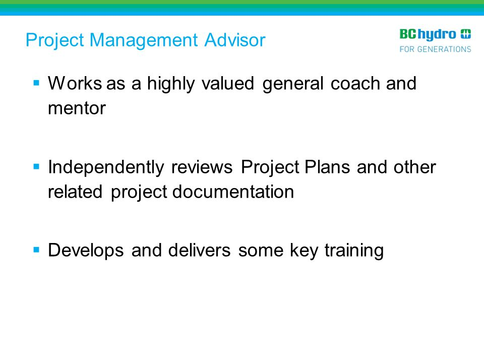 Project Management Advisor