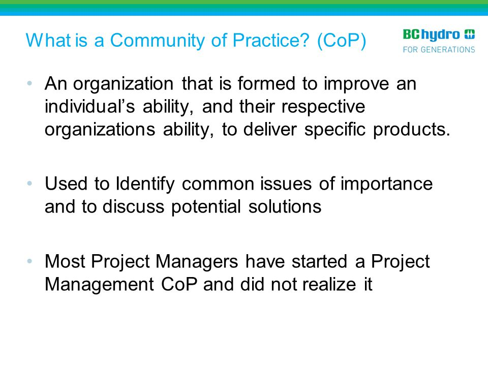 What is a Community of Practice (CoP)