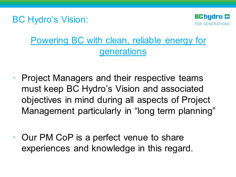 Powering BC with clean, reliable energy for generations