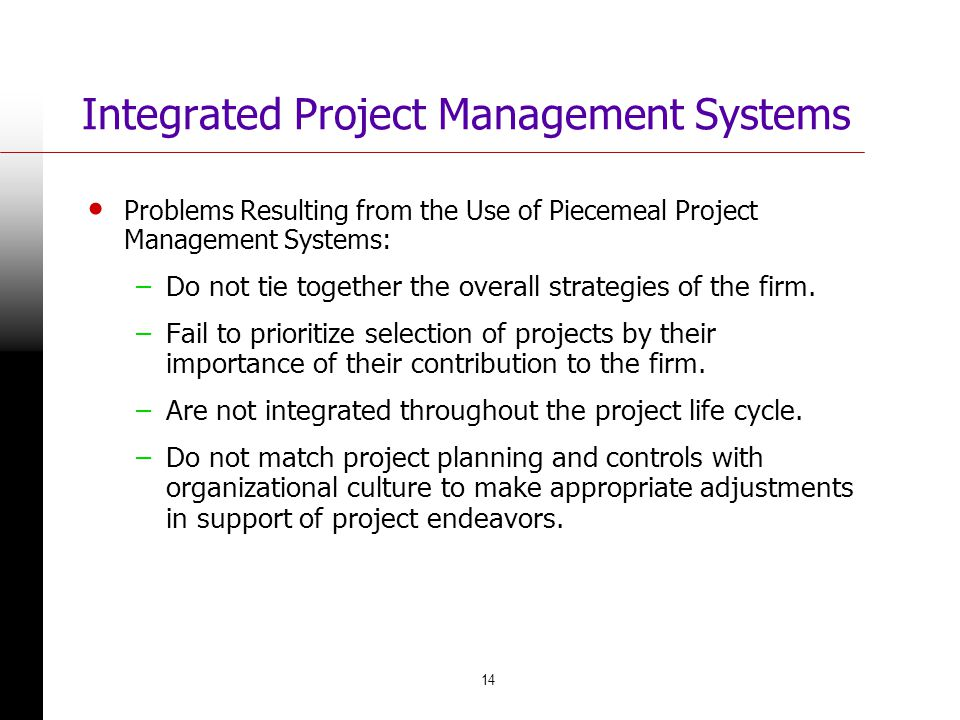 Integrated Project Management Systems