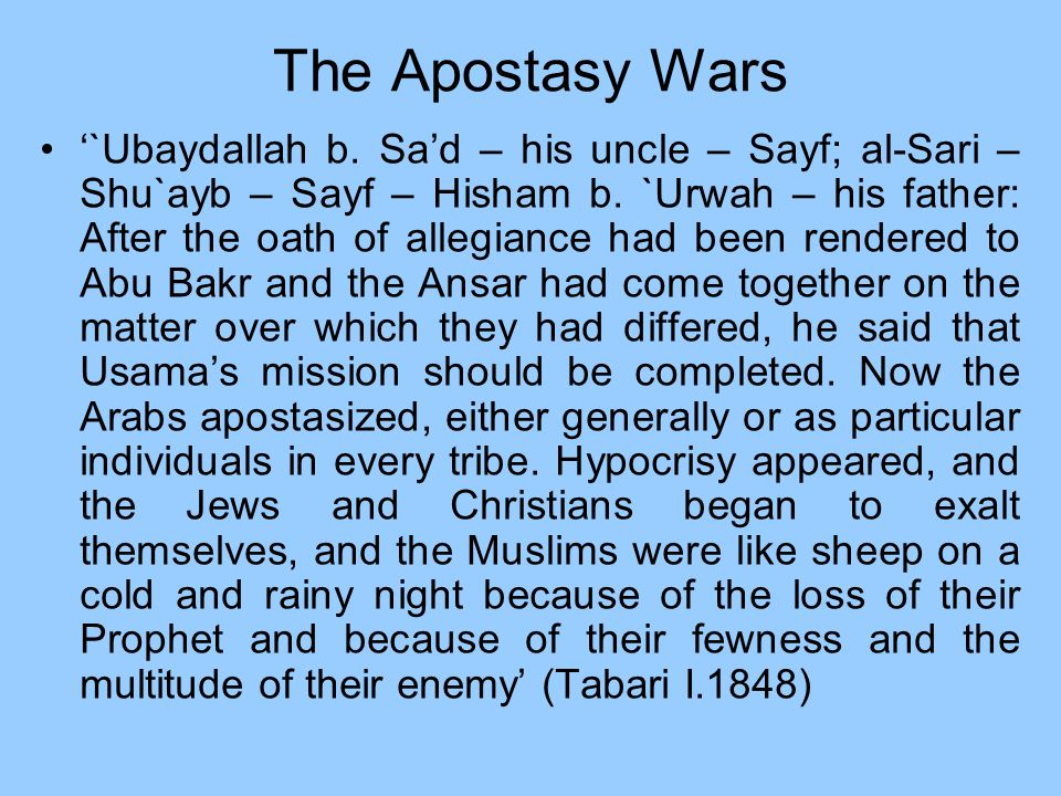 The Apostasy Wars
