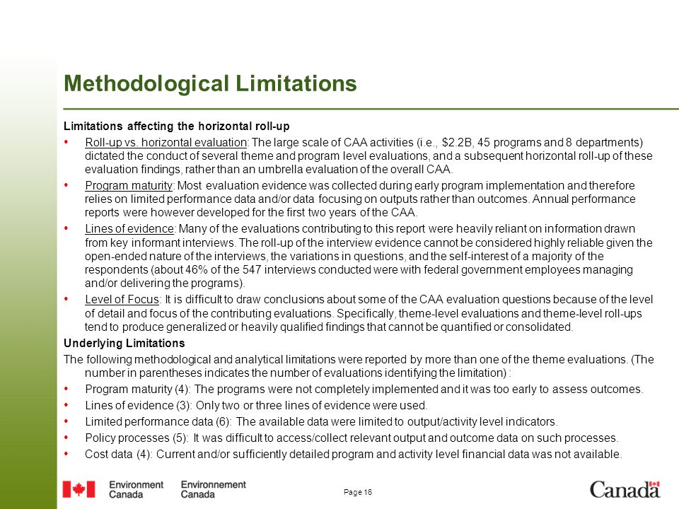 Methodological Limitations