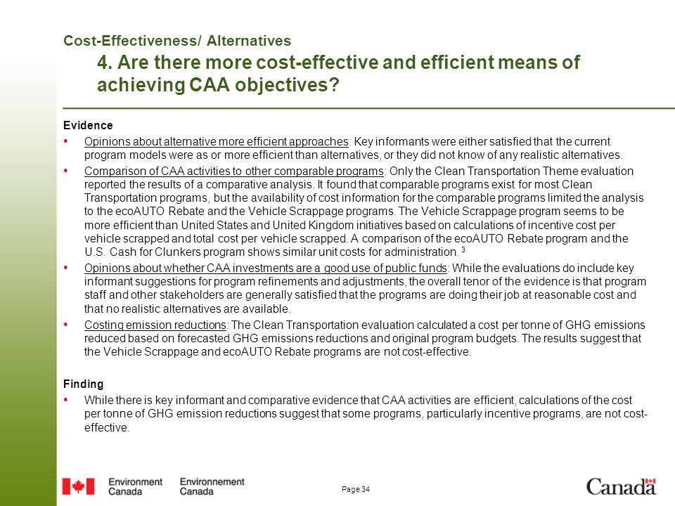 Cost-Effectiveness/ Alternatives 4