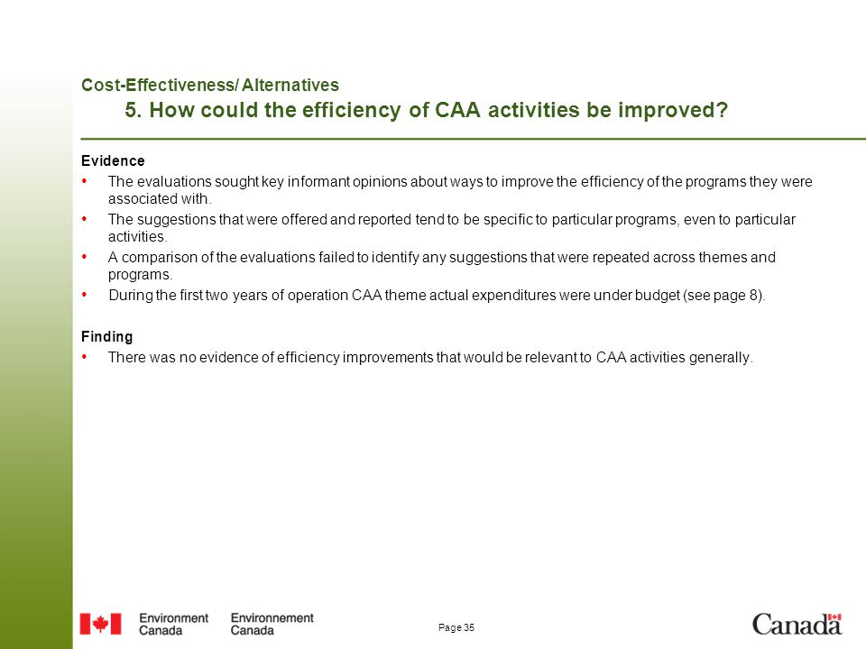 Cost-Effectiveness/ Alternatives 5