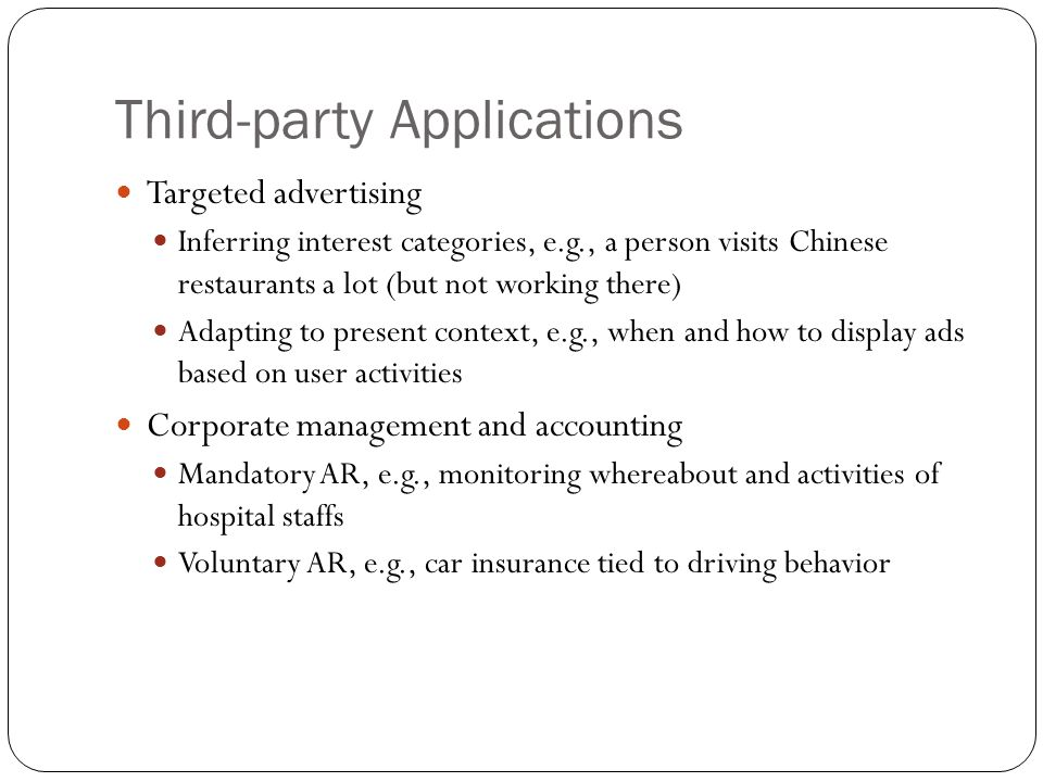 Third-party Applications