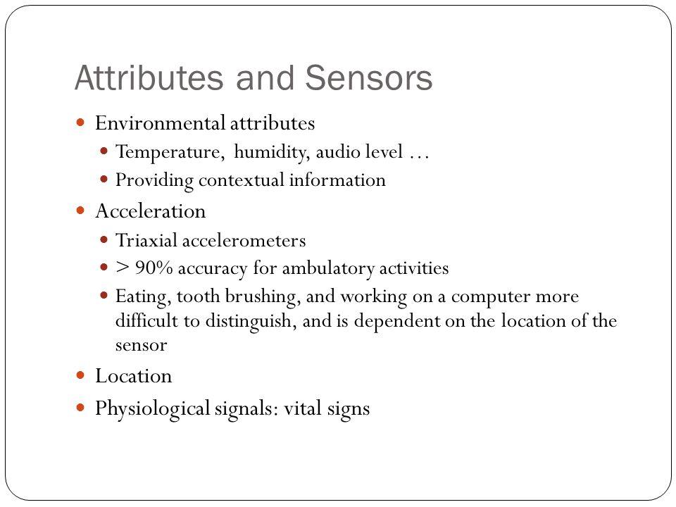 Attributes and Sensors