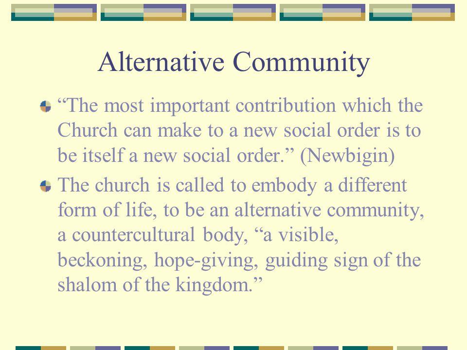 Alternative Community